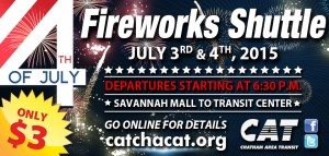 ad for Fourth of July Weekend shuttles