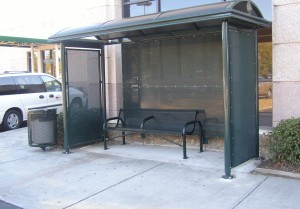 CAT bus shelter photo
