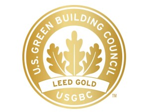 Logo for LEED gold certification