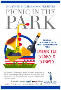 Picnic in the Park 2016 poster