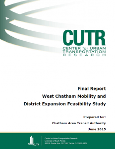 Cover of the West Chatham Mobility Study final report