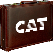 briefcase with CAT logo