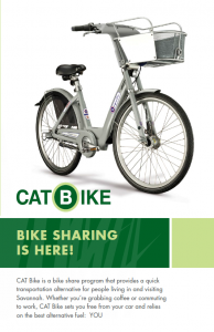 cover for CAT Bike brochure showing a CAT Bike