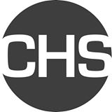 """dark circle with letters """"CHS"""" cut out of it for Coastal Heritage Society logo"""