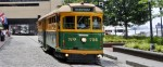 The River St streetcar in Savannah GA
