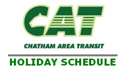 CAT logo with Holiday Schedule
