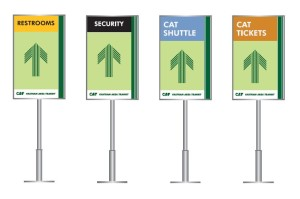 sample direction signs