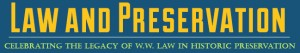 """""""Law and Preservation"""" masthead from City website"""
