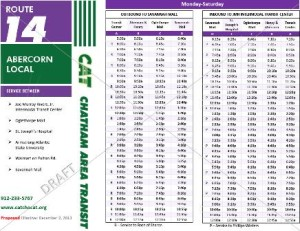 Draft schedule for 14 Abercorn 12.2.2013