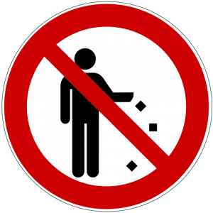 symbol for littering prohibited