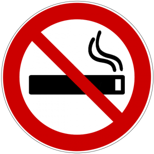 symbol for smoking prohibited