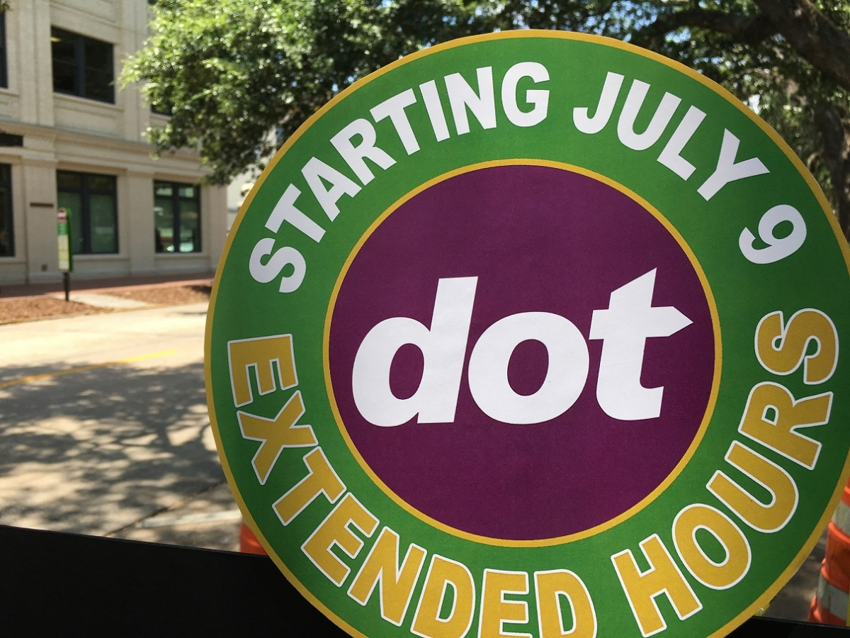 DOT shuttle July 9