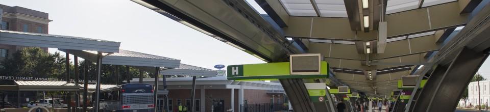 Joe Murray Rivers, Jr. Intermodal Transit Center Banner