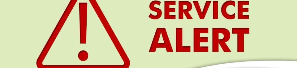 Service Updates Banner