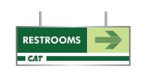 sample restroom sign
