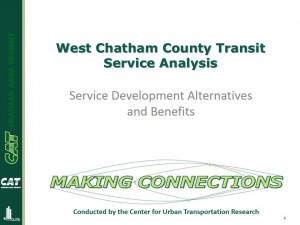West Chatham County Mobility Study Workshop presentation