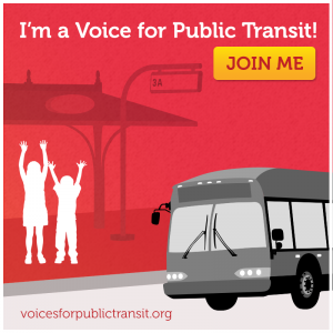 Voices for Public Transit sticker