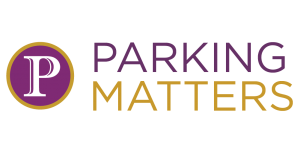 "purple and orange logo for Cit of Savannah ""Parking Matters"" strategic plan"